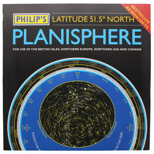 Planisphere wallet of information, showing an example of how the contents can be used to view stars.
