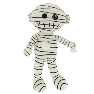 Plush stuffed Egyptian mummy toy.