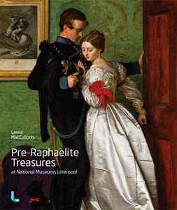 Front cover of Pre-Raphaelite Treasures featuring a painting of a man and a man embracing