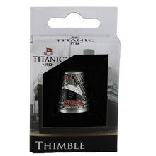Load image into Gallery viewer, Display box holding the Titanic thimble