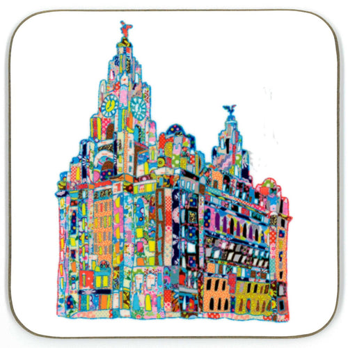 Tula Moon Fabric Liver Building Coaster