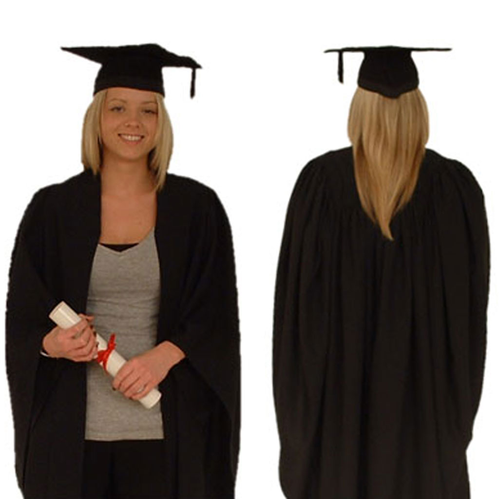 Graduation Gown and Mortarboard