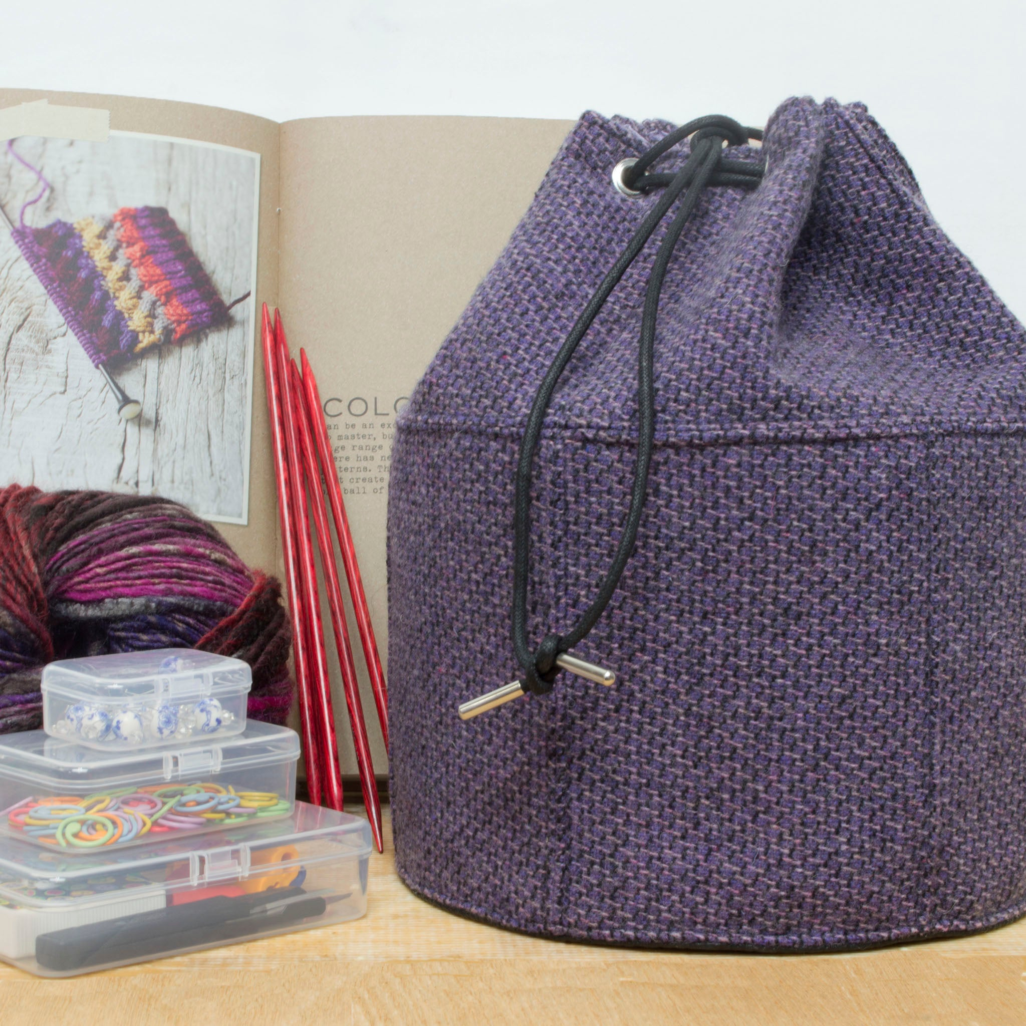 Purple Seas Bucket Bag