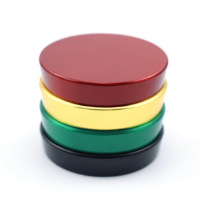 50mm 4-Layer Herb Grinder, Zinc Alloy with Magnetic Lid, 2 Colors Available