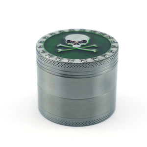 50mm 4-Layer Herb Grinder, Zinc Alloy with Magnetic Lid, Durable