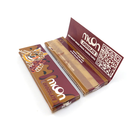 120 Booklets Short Size, 70*36mm, Finest Flavor Rolling Papers 6000 Leaves, Chocolate