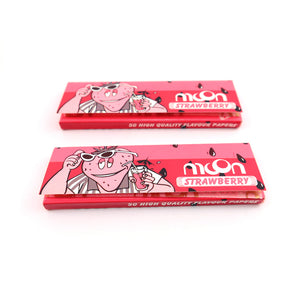20 Booklets Short Size, 70*36mm, Finest Flavor Rolling Papers 1000 Leaves, Strawberry