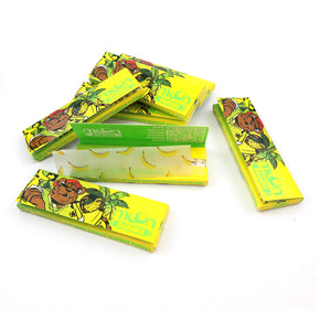 20 Booklets Short Size, 70*36mm, Finest Flavor Rolling Papers 1000 Leaves, Banana