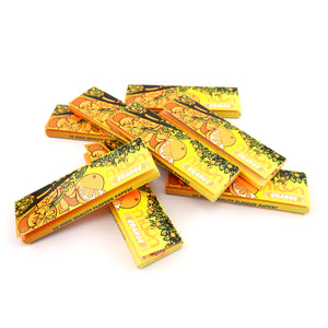 120 Booklets Short Size, 70*36mm, Finest Flavor Rolling Papers 6000 Leaves, Orange