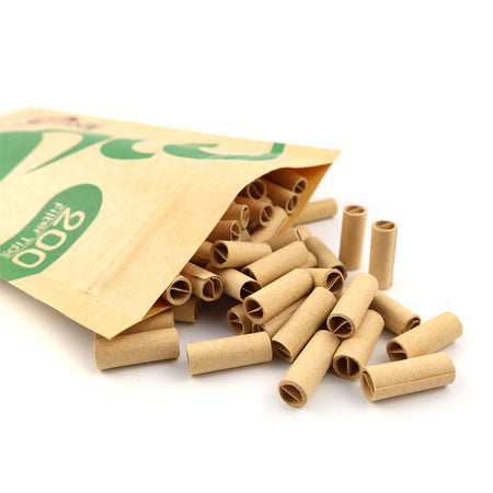 6 Booklets KSS 108*44mm Unbleached Rolling Paper with 200pcs Pre-Rolled Tips