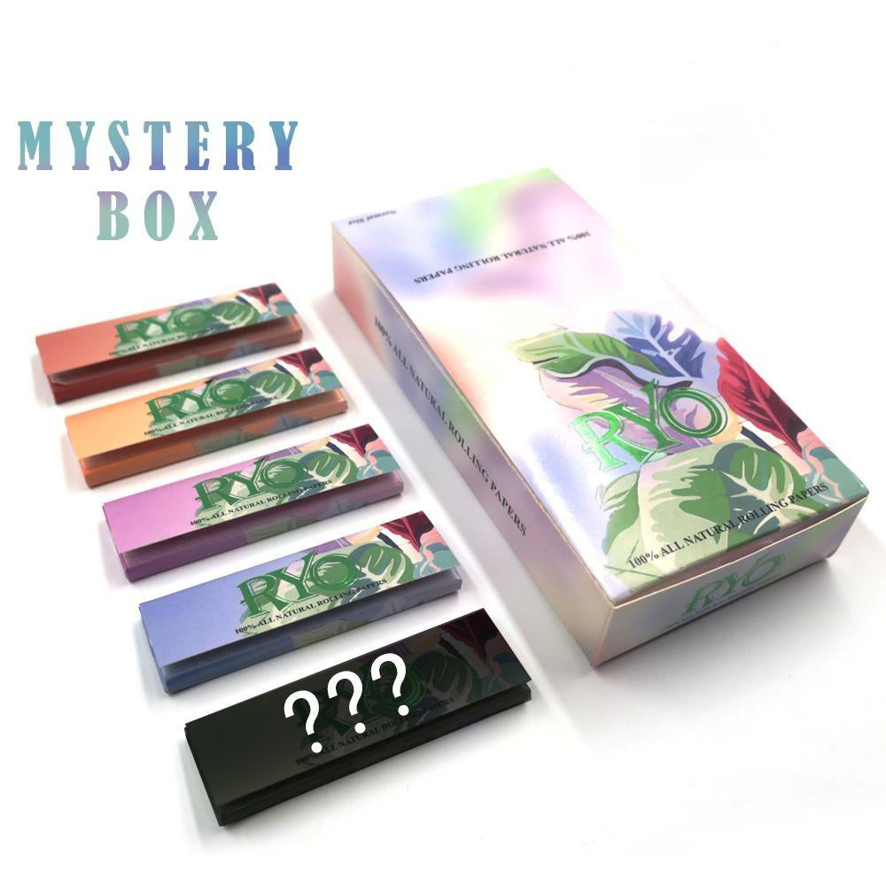25 Booklets Short Size, 70*36mm, Ultra Thin Wood Rolling Papers 1250 Leaves, for Blind Box Lover, Product Video Inside