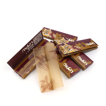 120 Booklets Short Size, 77*44mm, Finest Flavor Rolling Papers  4800 Leaves, Chocolate