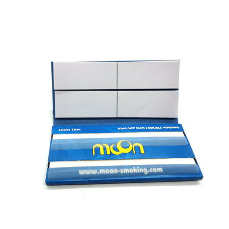 12 Booklets King Size, 108*44mm, Ultra Thin Rolling Papers, Double Window, with  64*12 Leaves + 64*12 Tips