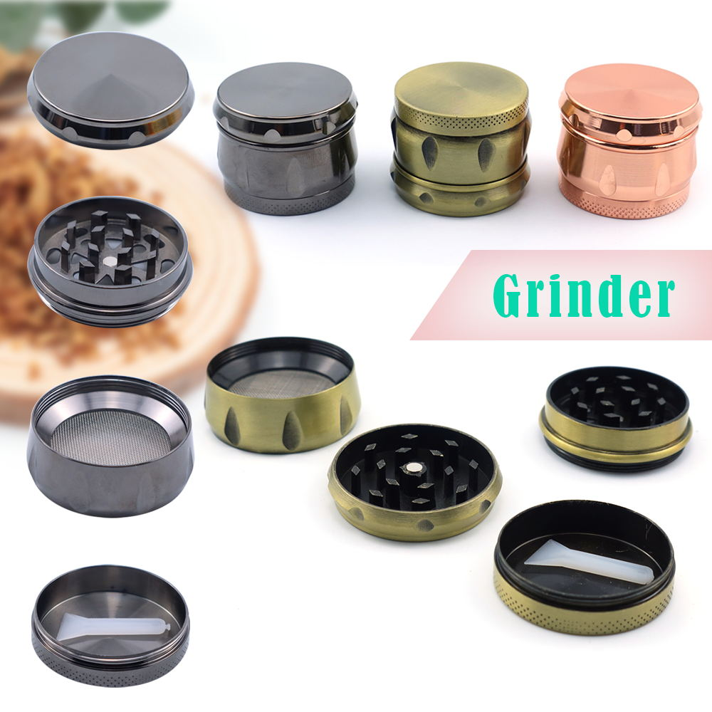 40mm 4-Layer Herb Grinder, Zinc Alloy with Magnetic Lid