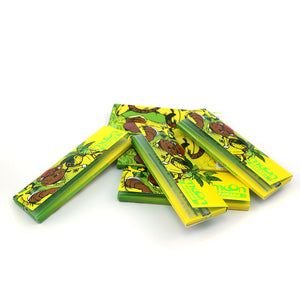 120 Booklets Short Size, 77*44mm, Finest Flavor Rolling Papers  4800 Leaves, Banana