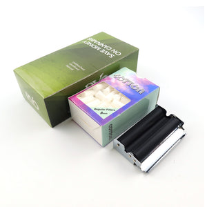 2500 Leaves 70*36mm Rolling Paper + 1 70mm Rolling Machine in 7 Options + 100 Regular Filters