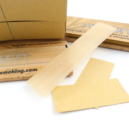 72 Booklets King Size, 108*44mm, Unbleached Rolling Papers, Double Window, with  64*12 Leaves + 64*12 Tips