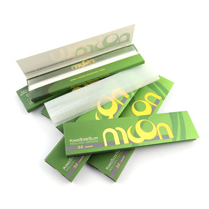 Ultra Thin king size Rolling Papers – 50 Booklets - 1600 Leaves - 108*44mm King Size – 100% Organic