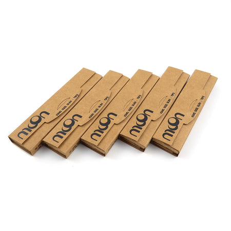 24 Booklets KSSS 108*36mm, Unbleached Wood Rolling Papers 32*24 Leaves + 32*24 Tips