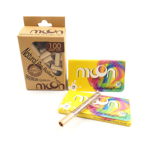 100PCS Cellulose Rolling Papers 1 1/4 78*44mm + 100PCS Pre-rolled Tips, Gift for Fashion Lover