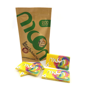 200PCS Cellulose Rolling Papers 1 1/4 78*44mm + 200PCS Pre-rolled Tips, Gift for Fashion Lover