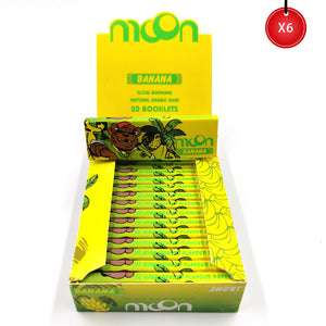 120 Booklets Short Size, 70*36mm, Finest Flavor Rolling Papers 6000 Leaves, Banana