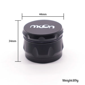 40mm 4-Layer Herb Grinder, Zinc Alloy with Magnetic Lid, MOON Brand