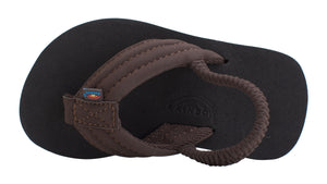 SUEDE STRAP SANDAL BROWN/BLACK