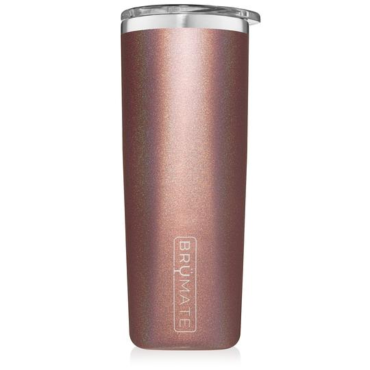 HIGHBALL TUMBLER GLITTER ROSE GOLD