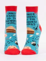 BLUE Q INNER DEMONS ANKLE SOCKS