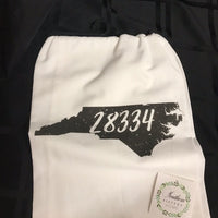 State Zip Code Tea Towel