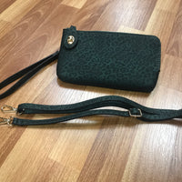 KENDALL CROSSBODY-CHEETAH GREEN