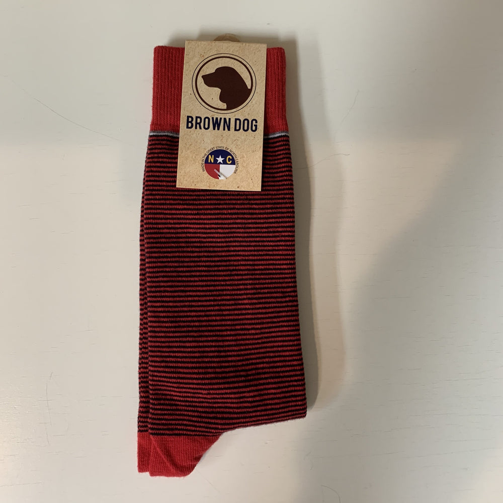 STAND UP SOCK STRIPE RED-BLACK