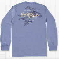 SEAWASH TEE L/S DUCK WASHED BLUE