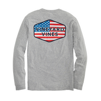 USA Patch Long Sleeve Grey