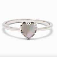 HEART OF PEARL RING