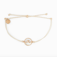 STONE WAVE BRACELET ROSE GOLD VANILLA