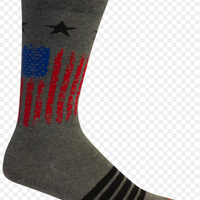 ALMANANCE GREY SOCK W/ FLAG RED