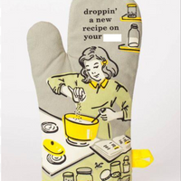 BLUE Q DROPPIN A RECIPE OVEN MITT