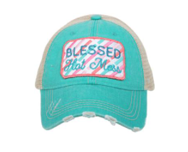 Blessed Hot Mess Patch Teal