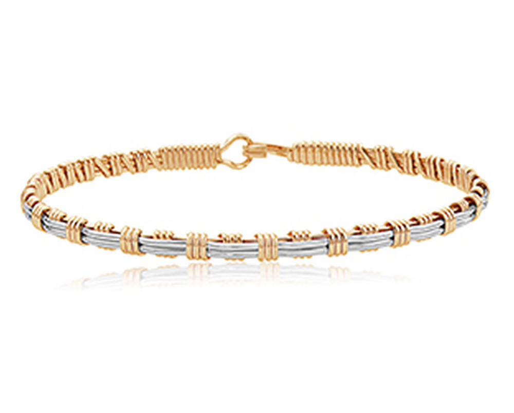 NOW AND FOREVER BRACELET GOLD/SILVER