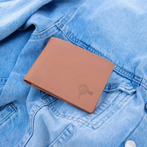 LEATHER BI-FOLD WALLET TAN