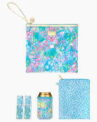 BEACH DAY POUCH AQUA LA VISTA