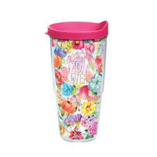 24OZ BEST MOM EVER FLORAL