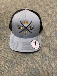NC CROSS HAT HEATHER WITH BLACK BACK