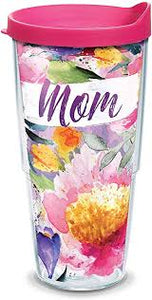 24oz Mom Large Blooms Tumbler