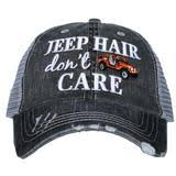 JEEP HAIR GREY/RED HAT