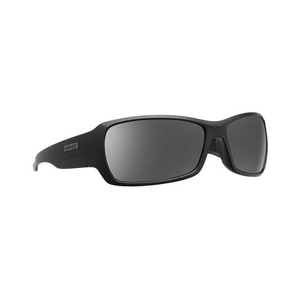 CALCUTTA STANIEL SUNGLASSES WITH MATTE BLACK FRAME AND SILVER MIRROR LENS
