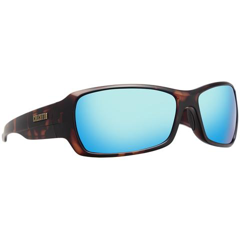 CALCUTTA STANIEL SUNGLASSES WITH TORTUOUS FRAME AND BLUE MIRROR LENS