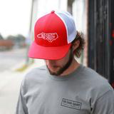 NC Letter Trucker Hat Red/White